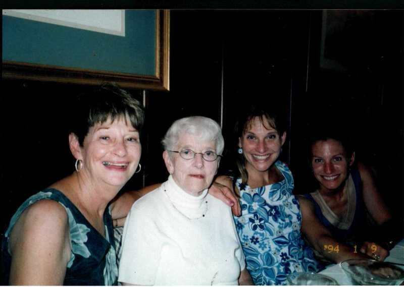 Laura Sapelly with her sister, great aunt, and mother