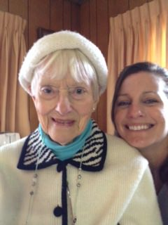 Laura Sapelly with her Great Aunt Marion