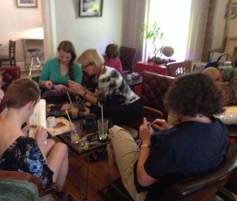 Sewing Circle in Cafe Lemont, Pennsylvania