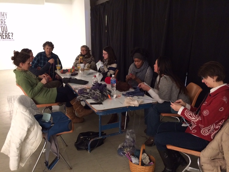 Sewing Circle in Zoller Gallery, Penn State