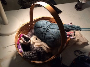 Basket of knitting