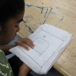 Middle school student drawing