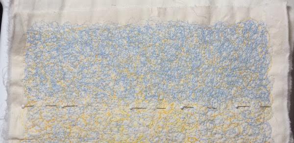scribble quilt blues